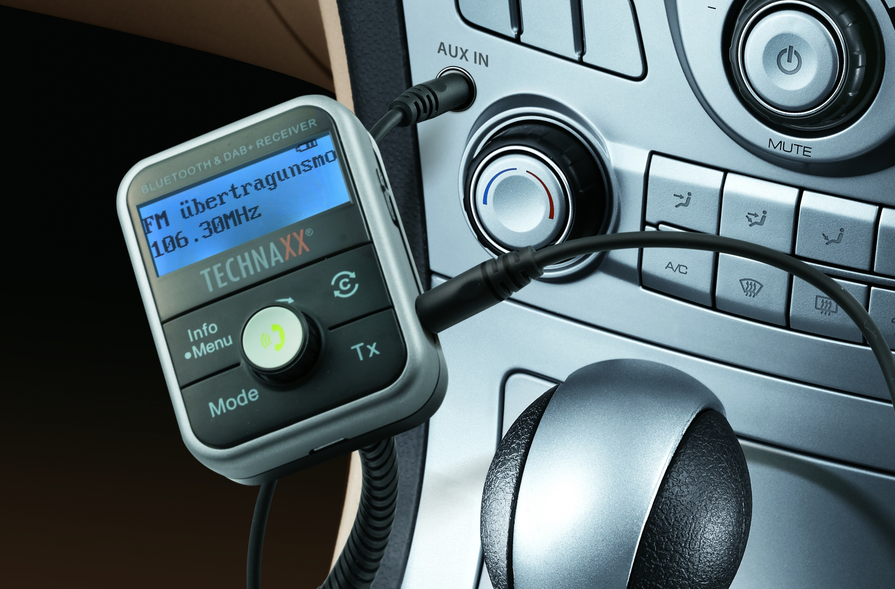DAB + MP3-Player FMT1000BT LCD-Display Technaxx FM-Sender Bluetooth