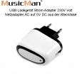 MusicMan USB Ladegerät Strom Adapter 230V Weiss