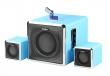 Musicman BT-X3 2.1 Soundstation hellblau B-Ware